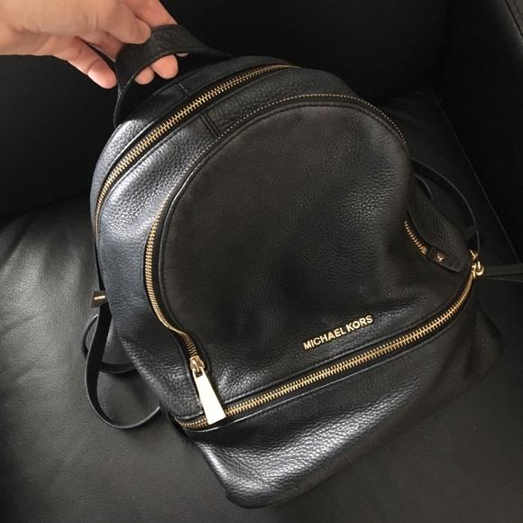 Michael Kors Black Leather Backpack. M 5c3e35aa409c154130f325cb fb3279be7e